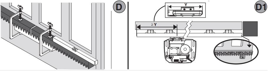 Gắn công tắc giới hạn từ trên cánh cổng