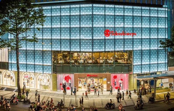 Cửa tự động Takashimaya - Sai Gon Center