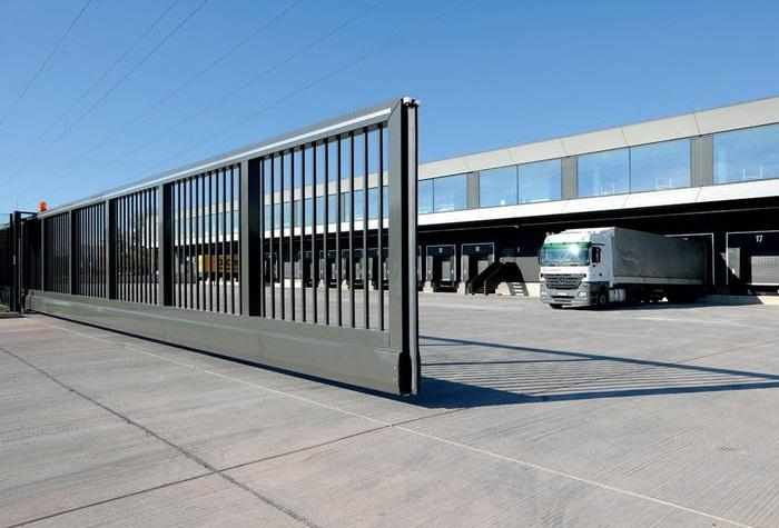 cổng trượt không đường ray tự động