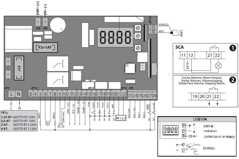 Sơ đồ đấu điện bộ điều khiển Board Barrier