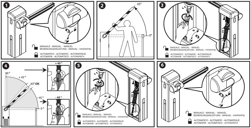 Hướng dẫn điều chỉnh thiết bị và tay cần Barrier Giotto