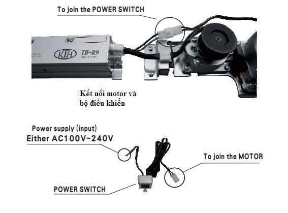 Cách kết nối nguồn, motor và bộ điều khiển TH-R9