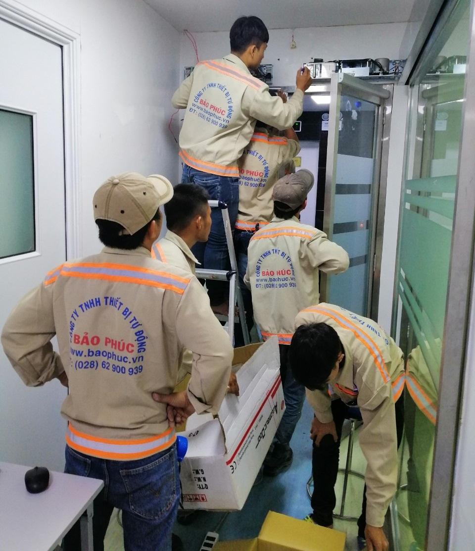 Lắp đặt cửa mở tự động SW-2 bệnh viện