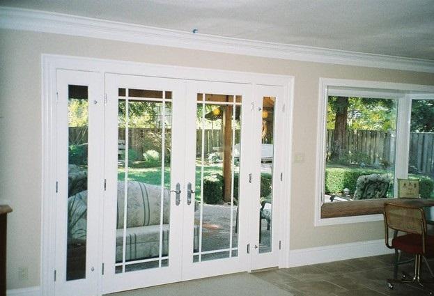 Mẫu cửa nhôm kính 4 cánh đẹp