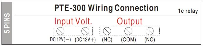 Sơ đồ lắp đặt nút nhấn cảm ứng PTE-300