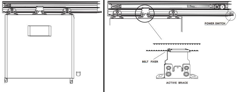 Sơ đồ lắp đặt cánh cửa trượt tự động A-2