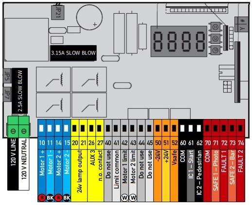 Bộ điều khiển cổng tự động âm sàn Eli 250