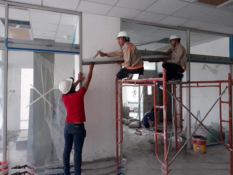 Lắp cửa tự động bệnh viện quốc tế mỹ