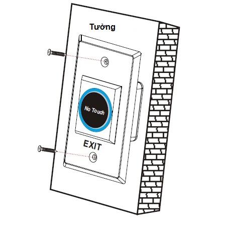 Lắp đặt nút nhấn PTE-300
