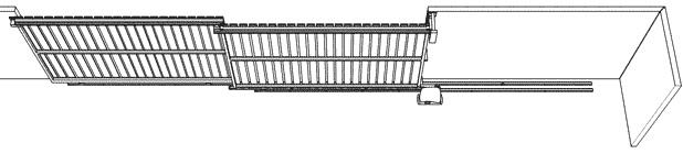 Mô hình lắp đặt cổng trượt xếp lớp tự động