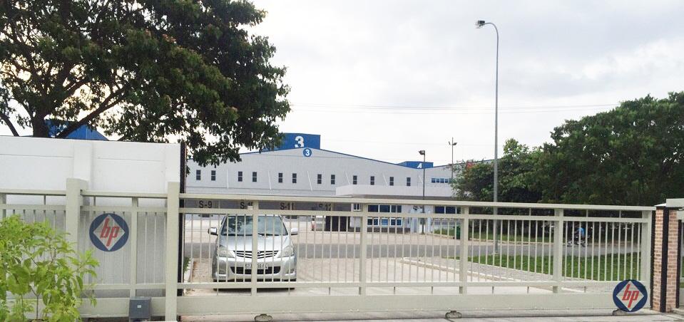 Mẫu cổng lùa nhà máy xí nghiệp