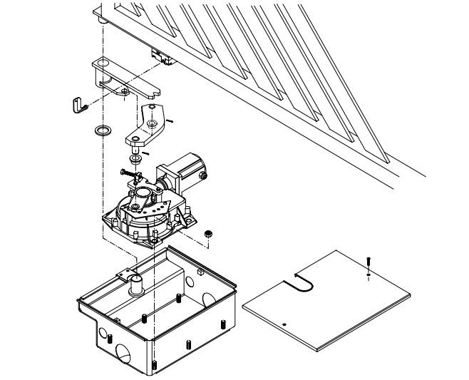 Sơ đồ lắp đặt cổng tự động âm sàn Eli 250 N BT