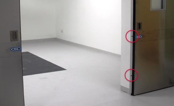 Ví trí lắp đặt sensor an toàn cho cửa bệnh viện