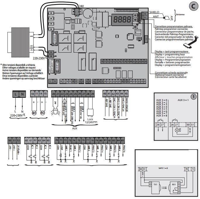sơ đồ đấu điện cho bộ điều khiển giuno ultra A20